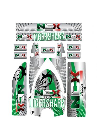 KIT GRAFICHE NCX TIGERSHARK VERDE