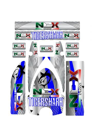KIT GRAFICHE NCX TIGERSHARK BLU
